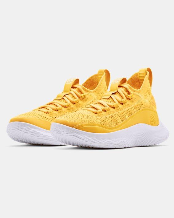 Zapatillas de baloncesto Grade School Curry 8, Yellow, pdpMainDesktop image number 3