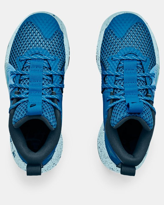 Grade School UA Embiid One Basketball Shoes, Blue, pdpMainDesktop image number 2