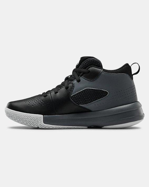 Grade School UA Lockdown 5 Basketball Shoes, Black, pdpMainDesktop image number 1