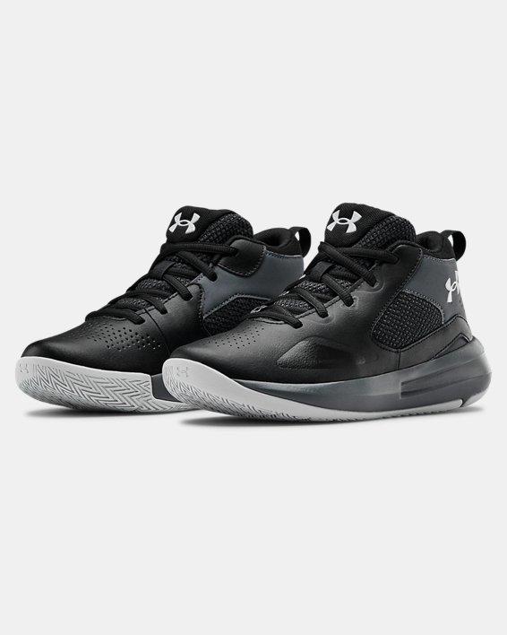 Grade School UA Lockdown 5 Basketball Shoes, Black, pdpMainDesktop image number 3