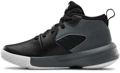 100 //White Under Armour Boys Pre School Lightning 5 Basketball Shoe Charcoal