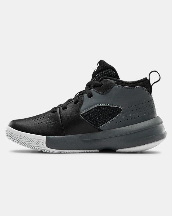 Pre-School UA Lockdown 5 Basketball Shoes, Black, pdpMainDesktop image number 1
