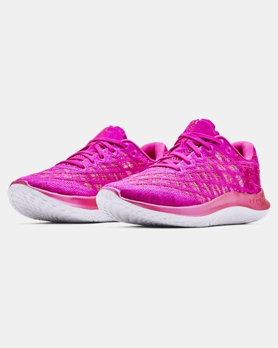 Women's UA Flow Velociti Wind Running Shoes, Pink, pdpMainDesktop image number 3