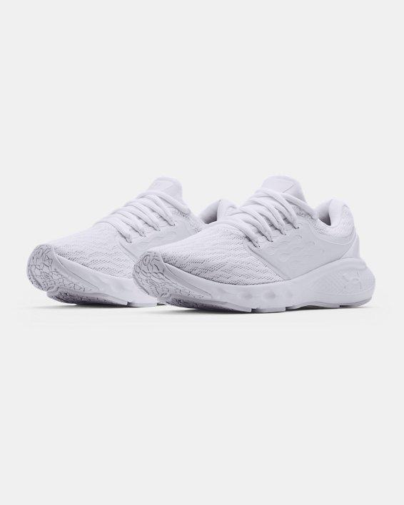 Women's UA Charged Vantage Running Shoes, White, pdpMainDesktop image number 3