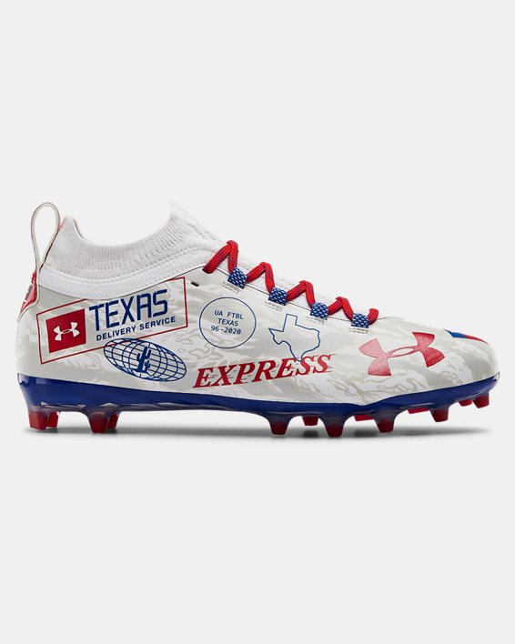 Men's UA Spotlight Lux LE TX Camo Football Cleats, White, pdpMainDesktop image number 0