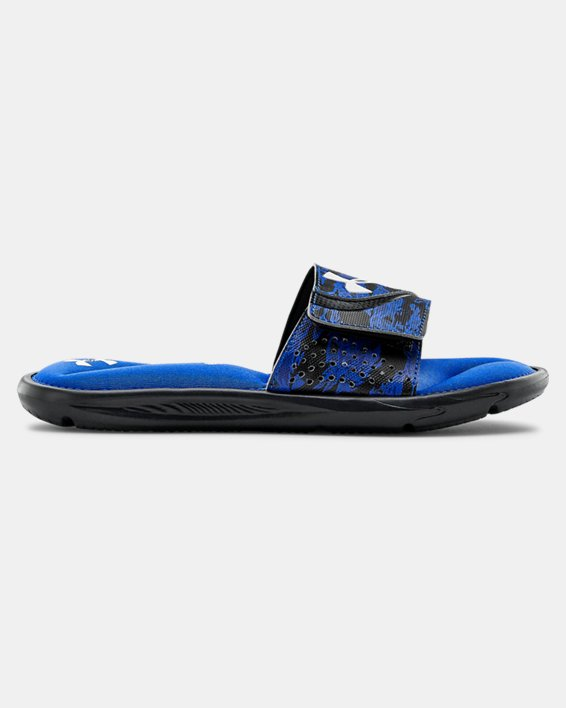 Boys' UA Ignite STRK DPM VI Slides, Black, pdpMainDesktop image number 0