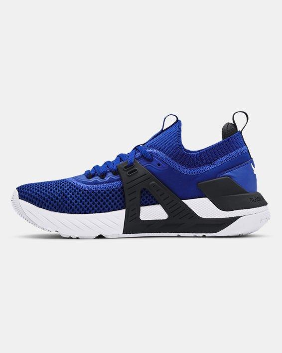Men's UA Project Rock 4 Training Shoes, Blue, pdpMainDesktop image number 1