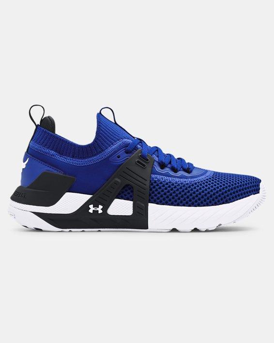 Men's UA Project Rock 4 Training Shoes, Blue, pdpMainDesktop image number 0