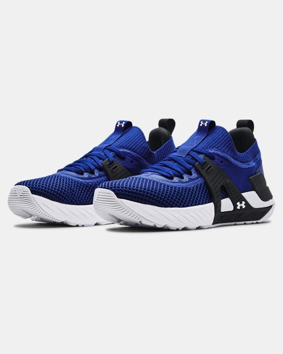 Men's UA Project Rock 4 Training Shoes, Blue, pdpMainDesktop image number 3