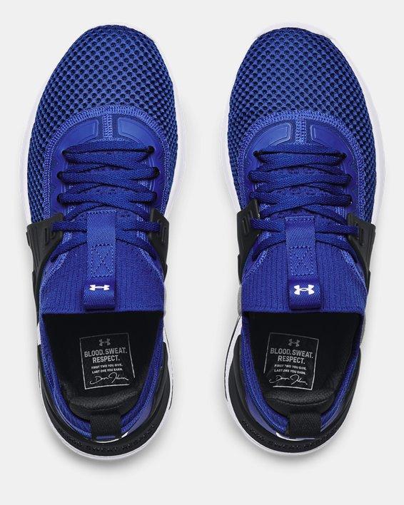 Men's UA Project Rock 4 Training Shoes, Blue, pdpMainDesktop image number 2