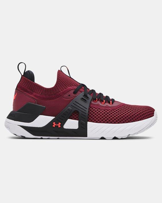 Men's UA Project Rock 4 Training Shoes, Red, pdpMainDesktop image number 0