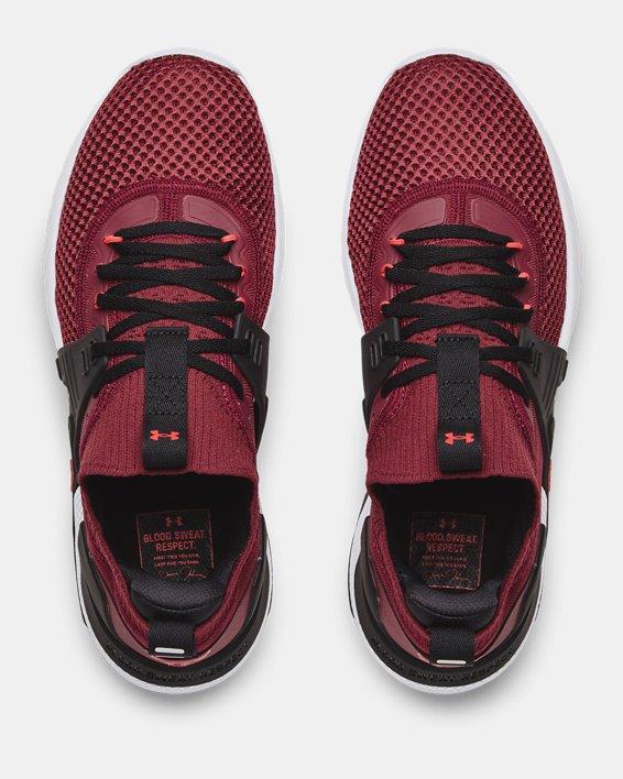 Men's UA Project Rock 4 Training Shoes, Red, pdpMainDesktop image number 2