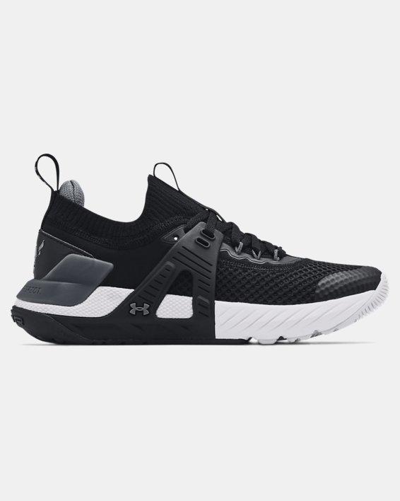 Grade School UA Project Rock 4 Training Shoes, Black, pdpMainDesktop image number 0