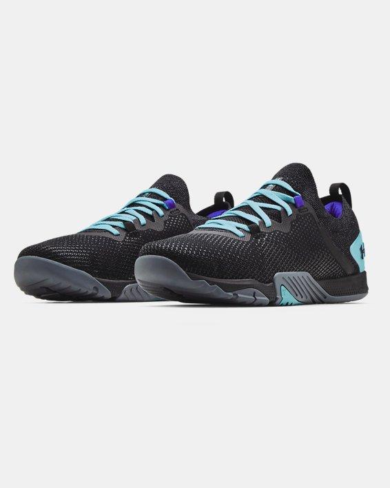 Men's UA TriBase™ Reign 3 Training Shoes, Black, pdpMainDesktop image number 3