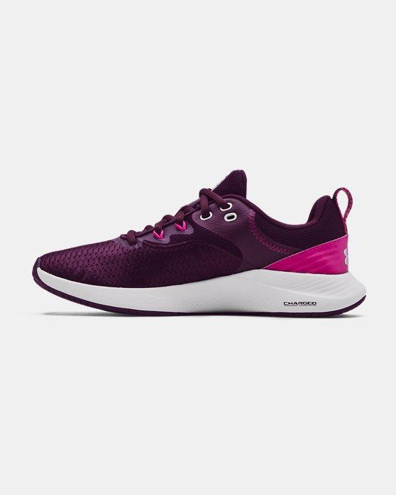 Women's UA Charged Breathe 3 Training Shoes, Purple, pdpMainDesktop image number 1