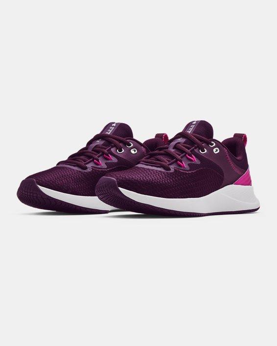 Women's UA Charged Breathe 3 Training Shoes, Purple, pdpMainDesktop image number 3