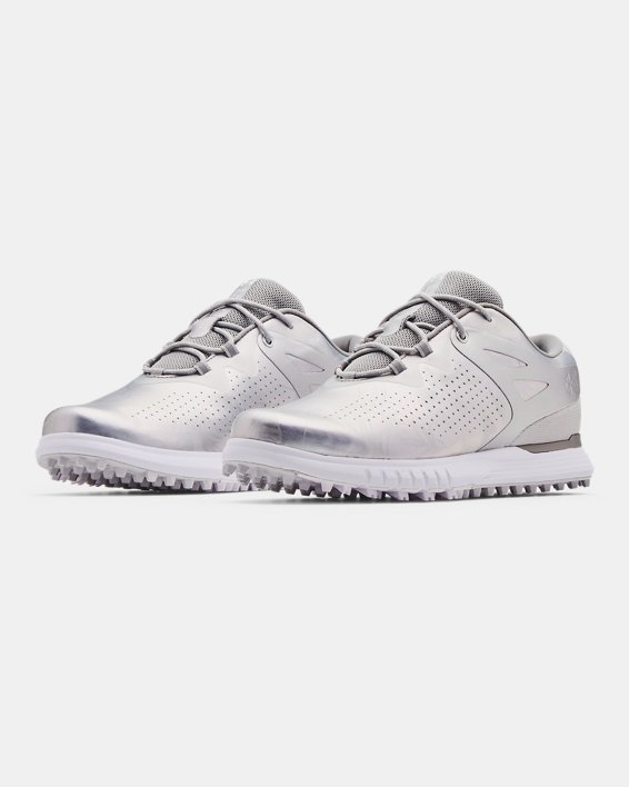 Women's UA Charged Breathe Spikeless Golf Shoes, White, pdpMainDesktop image number 3