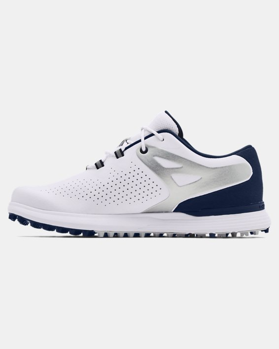 Women's UA Charged Breathe Spikeless Golf Shoes, White, pdpMainDesktop image number 1