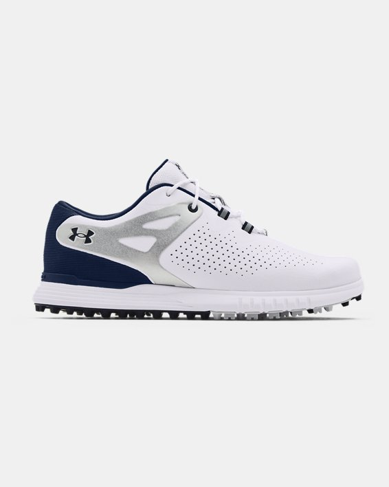Women's UA Charged Breathe Spikeless Golf Shoes, White, pdpMainDesktop image number 0