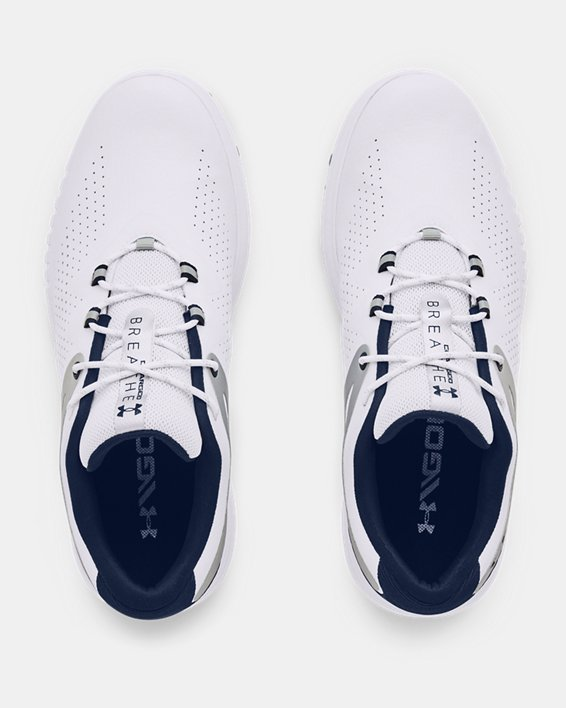 Women's UA Charged Breathe Spikeless Golf Shoes, White, pdpMainDesktop image number 2