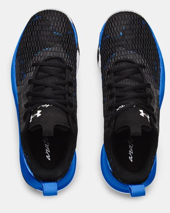 Unisex UA Spawn 3 Basketball Shoes, Black, pdpMainDesktop image number 2