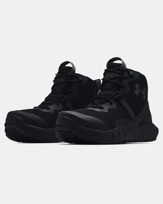 Women's UA Micro G® Valsetz Mid Tactical Boots, Black, pdpMainDesktop image number 3