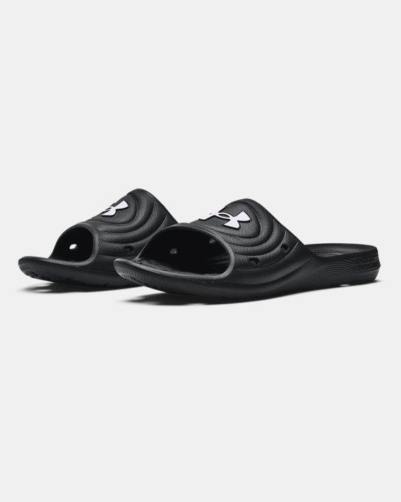 Men's UA Locker IV Slides, Black, pdpMainDesktop image number 3