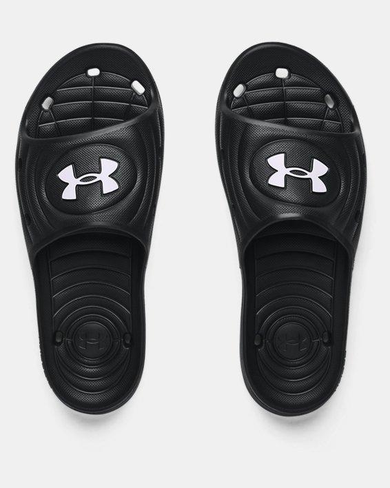 Men's UA Locker IV Slides, Black, pdpMainDesktop image number 2