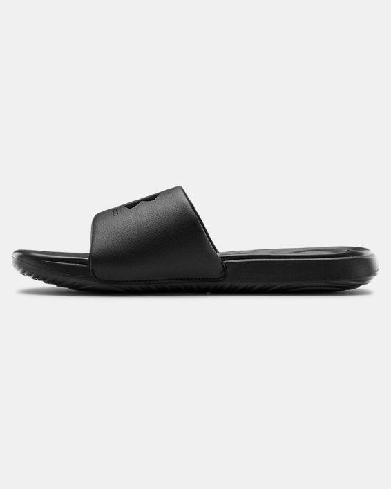 Men's UA Ansa Fixed Slides, Black, pdpMainDesktop image number 1