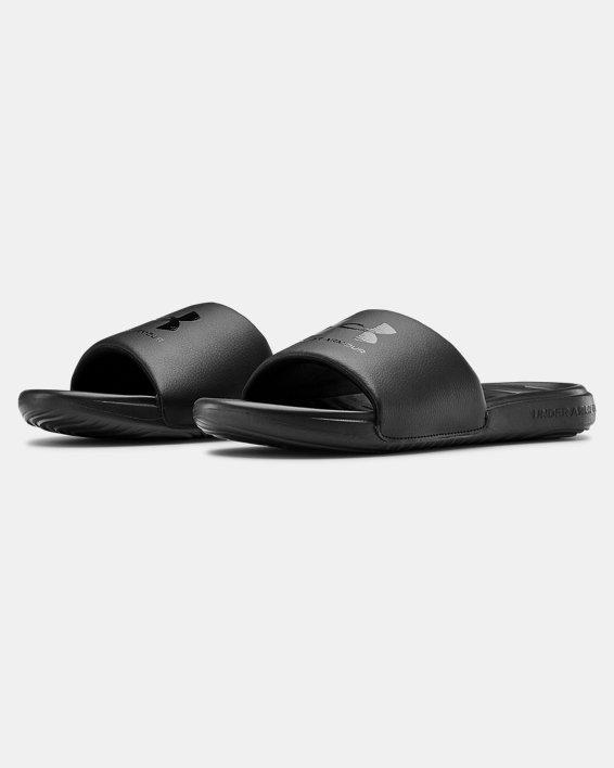 Men's UA Ansa Fixed Slides, Black, pdpMainDesktop image number 3