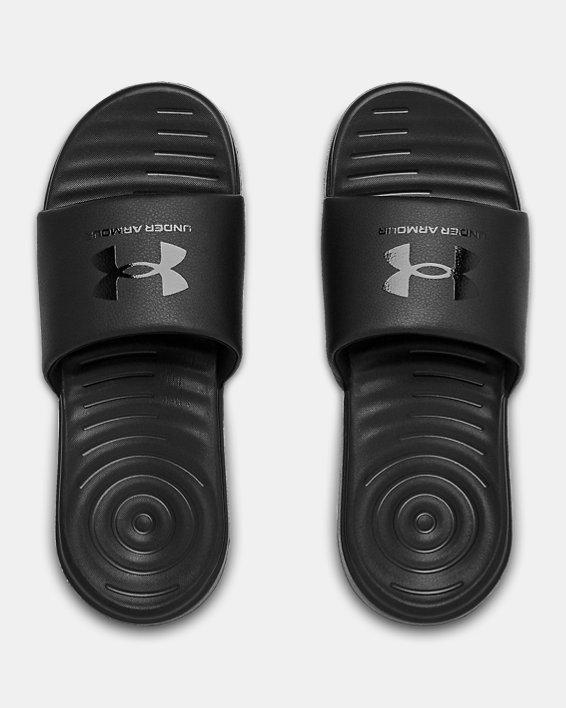 Men's UA Ansa Fixed Slides, Black, pdpMainDesktop image number 2