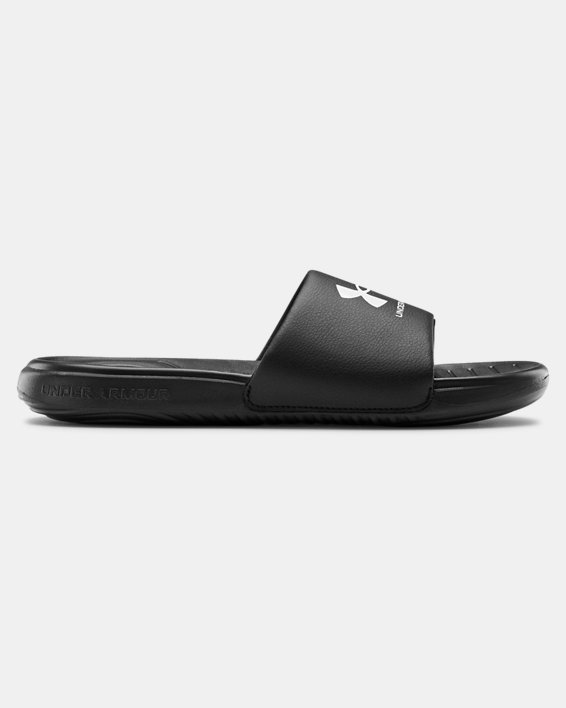 Men's UA Ansa Fixed Slides, Black, pdpMainDesktop image number 0