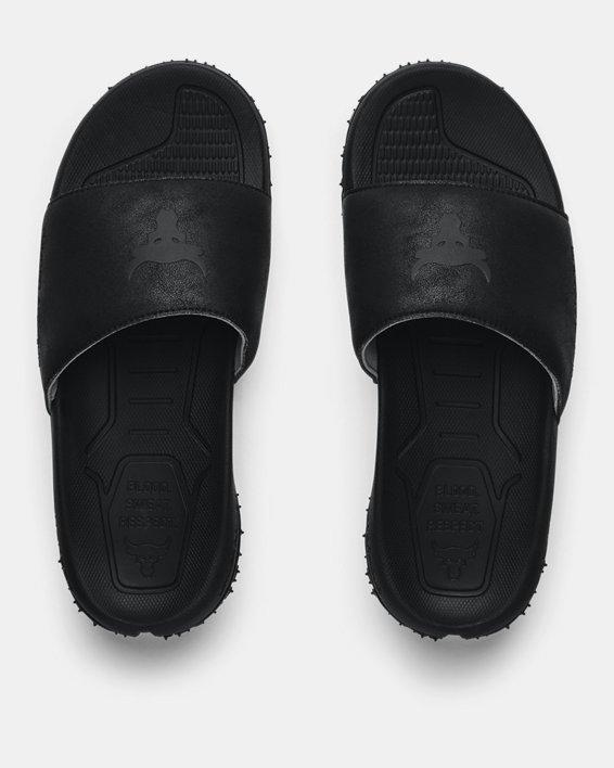 Men's Project Rock Slides, Black, pdpMainDesktop image number 2