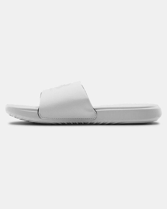 Women's UA Ansa Fixed Slides, White, pdpMainDesktop image number 1