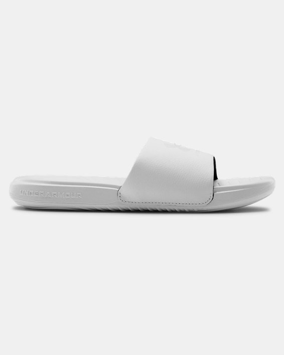 Women's UA Ansa Fixed Slides, White, pdpMainDesktop image number 0