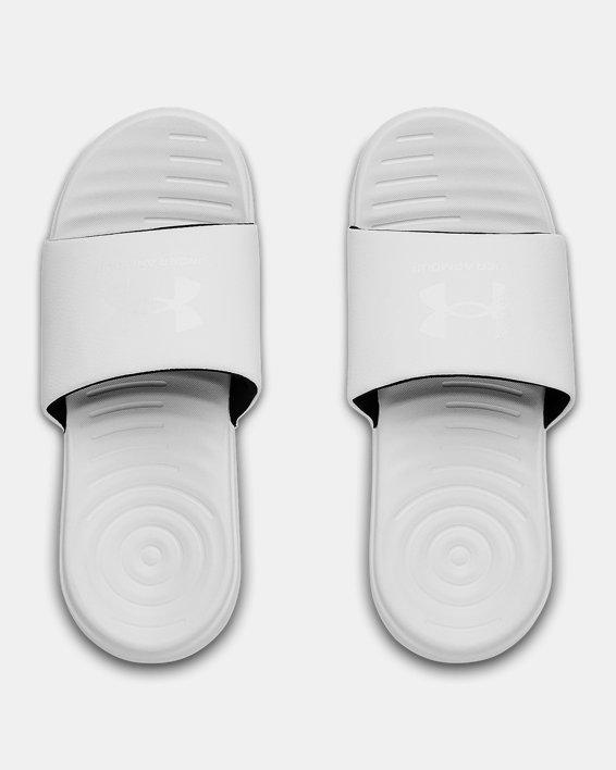 Women's UA Ansa Fixed Slides, White, pdpMainDesktop image number 2