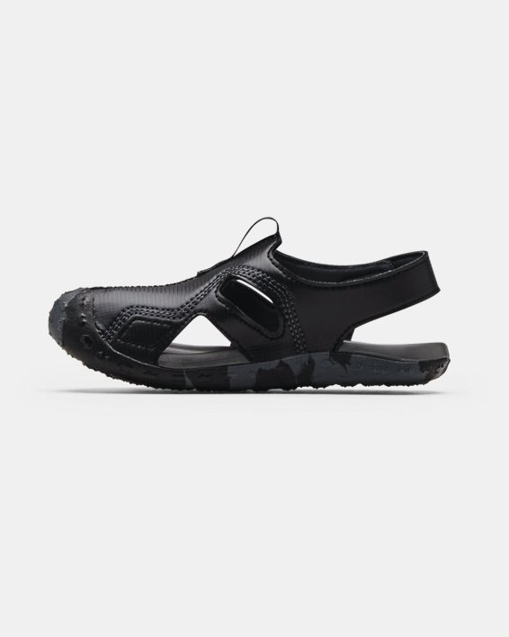 Pre-School UA Fat Tire Defender Sandals, Black, pdpMainDesktop image number 1