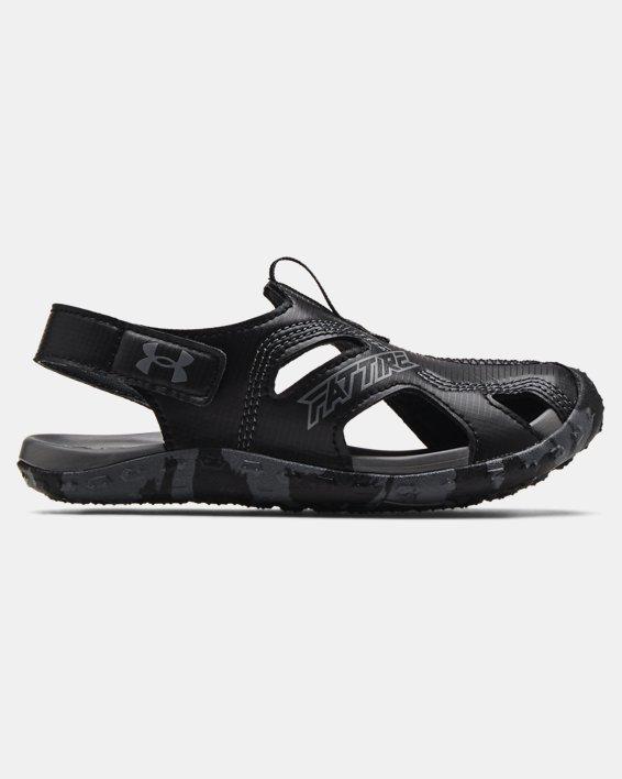 Pre-School UA Fat Tire Defender Sandals, Black, pdpMainDesktop image number 0