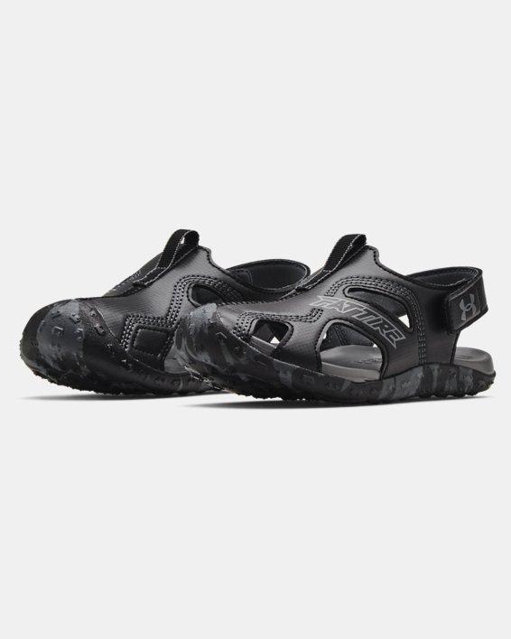 Pre-School UA Fat Tire Defender Sandals, Black, pdpMainDesktop image number 3