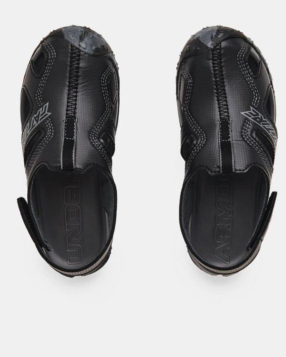 Pre-School UA Fat Tire Defender Sandals, Black, pdpMainDesktop image number 2