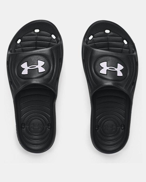 Boys' UA Locker IV Slides, Black, pdpMainDesktop image number 2