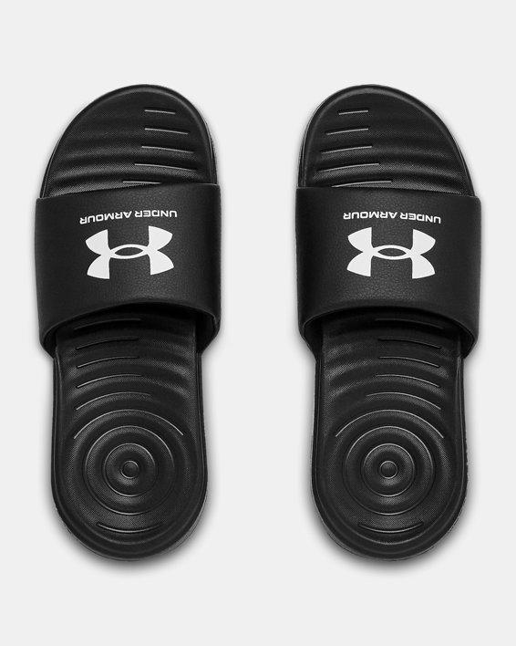 Boys' UA Ansa Fixed Slides, Black, pdpMainDesktop image number 2