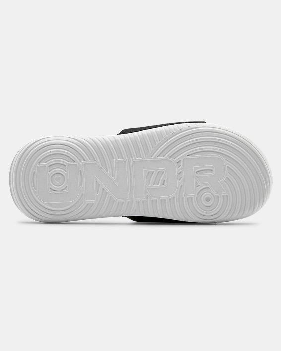 Boys' UA Ansa Fixed Slides, White, pdpMainDesktop image number 2