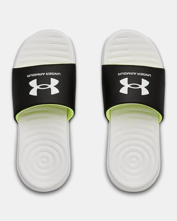 Boys' UA Ansa Fixed Slides, White, pdpMainDesktop image number 3