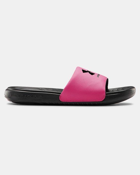 Girls' UA Ansa Fixed Slides, Black, pdpMainDesktop image number 0