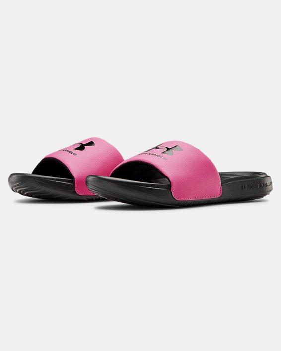 Girls' UA Ansa Fixed Slides, Black, pdpMainDesktop image number 3