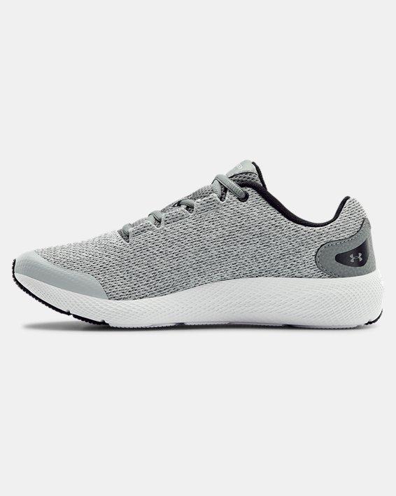 Girls' Grade School UA Charged Pursuit 2 Twist Running Shoes, Gray, pdpMainDesktop image number 1