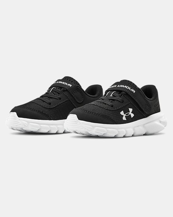 Boys' Infant UA Assert 8 Running Shoes, Black, pdpMainDesktop image number 3
