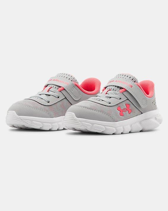 Girls' Infant UA Assert 8 Running Shoes, Gray, pdpMainDesktop image number 4
