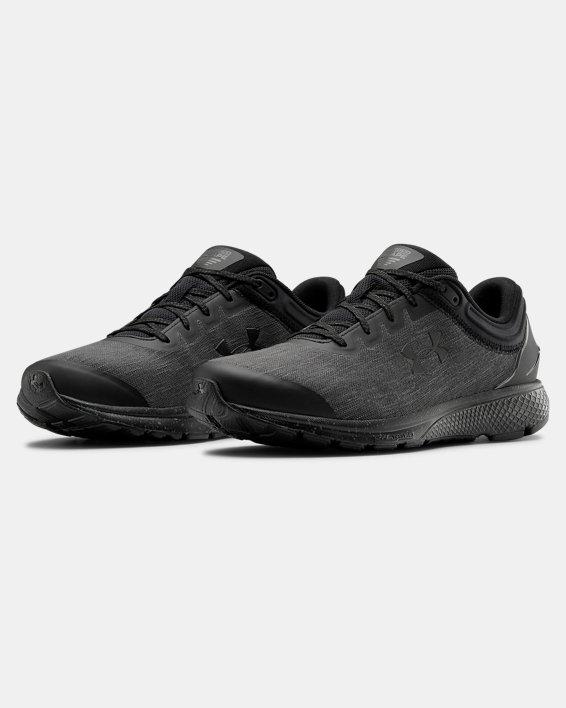 Men's UA Charged Escape 3 Evo Running Shoes, Black, pdpMainDesktop image number 3